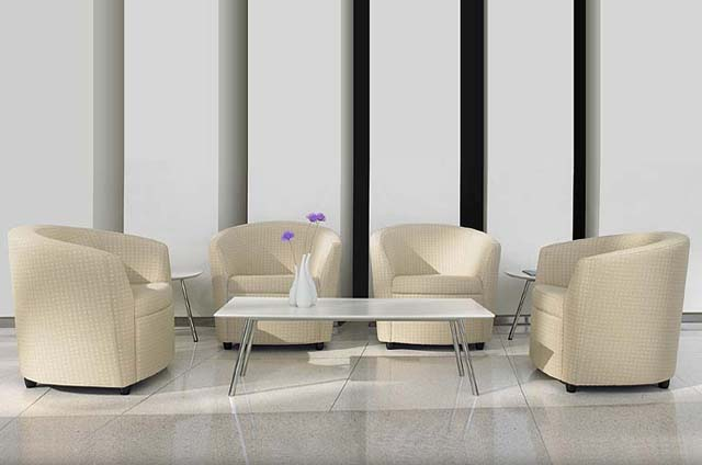 A contemporary lounge with the optional writing table!
